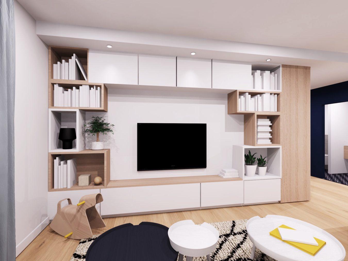 Anouck Charbonnier - Conception d'une bibliothèque design en appartement