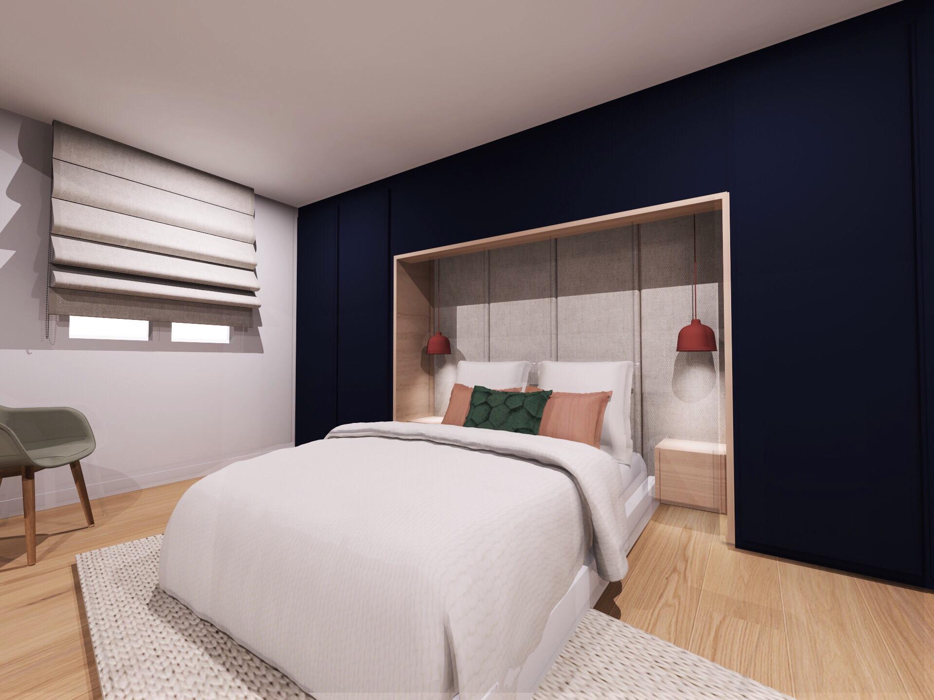 Anouck Charbonnier - Création d'une chambre supplémentaire en appartement