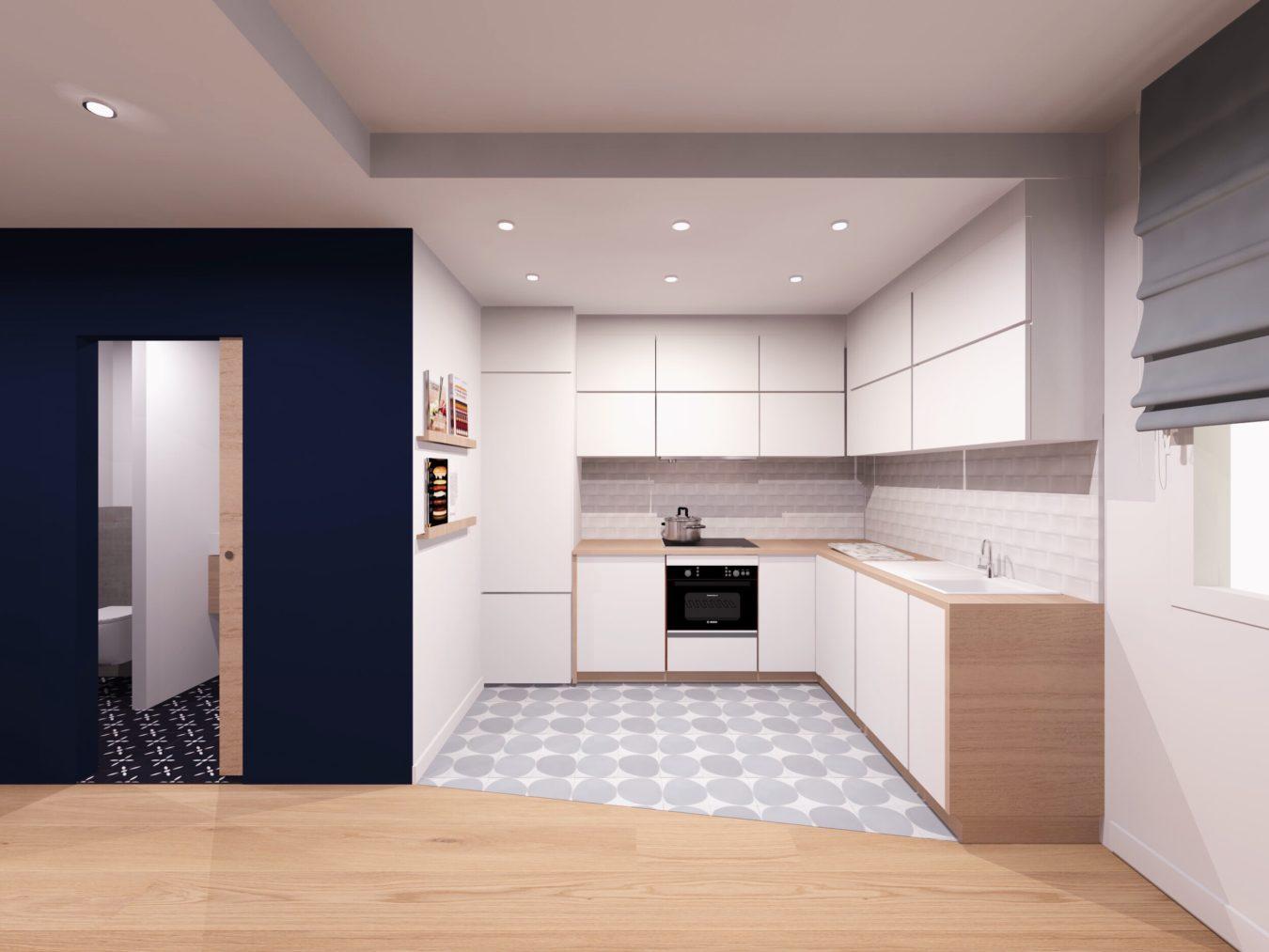 Anouck Charbonnier - Aménagement intérieur design d'une cuisine en appartement
