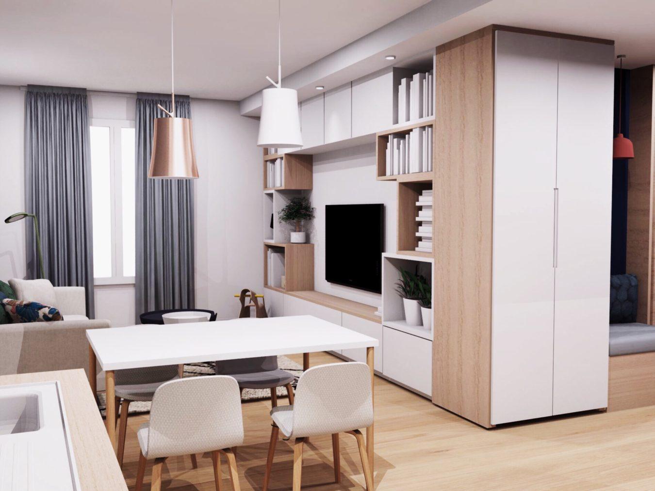 Anouck Charbonnier - Aménagement intérieur design d'un salon en appartement