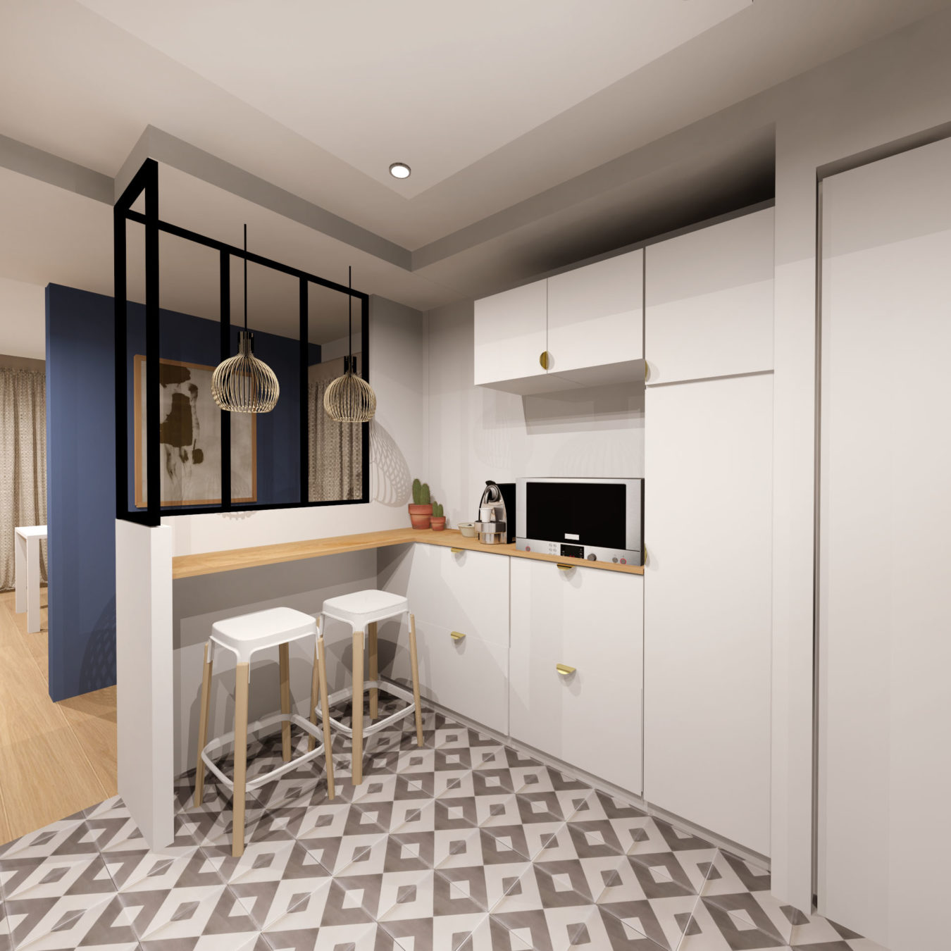 Anouck Charbonnier - Aménagement intérieur d'une cuisine pour le projet Henry Bordeaux à Annecy