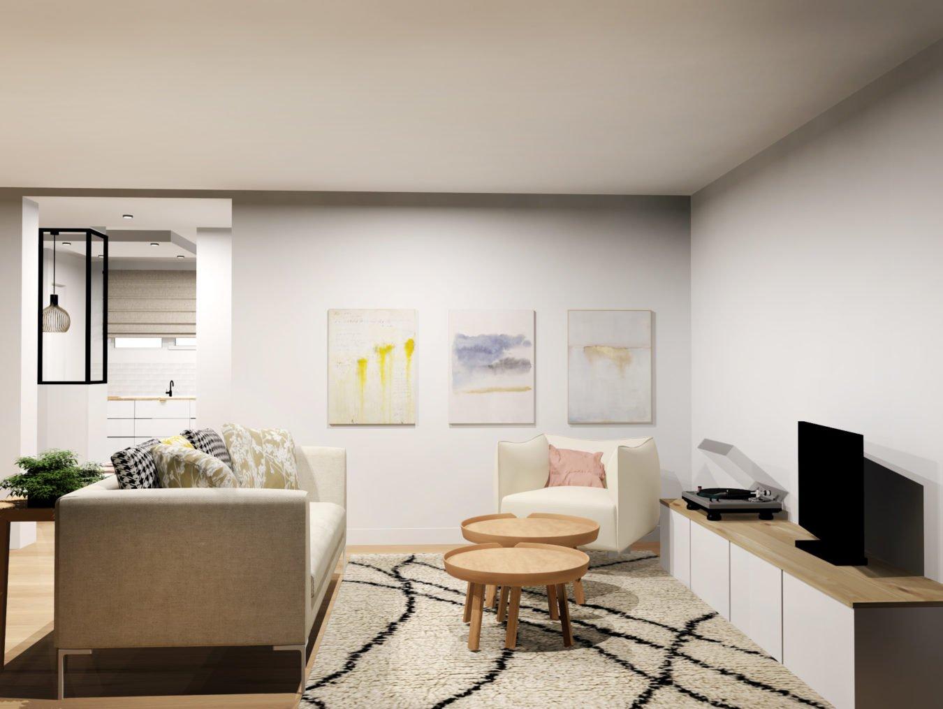 Anouck Charbonnier - Aménagement intérieur du salon pour le projet Henry Bordeaux à Annecy