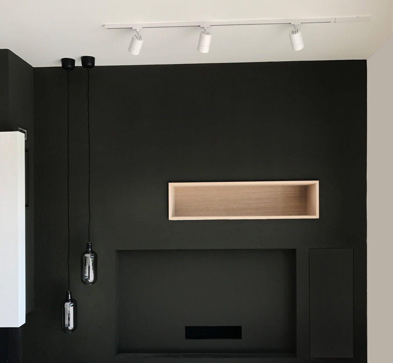 Anouck Charbonnier - Vue 3D - réalisation maison complète - vue séjour avec cheminée - Salvagny
